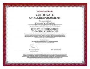 Certificattion : Univiversity of Nicosia